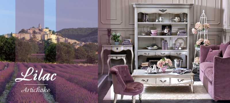 Прованс стиль в интерьере: коллекция «LILAC»