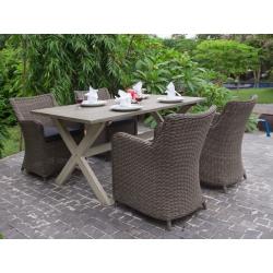 Кресло Bilbao коричневое, с подушкой, 60*71*85