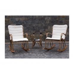 Кресло-качалка Riviera  светло-коричневое, с подушкой, 61*83*93