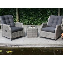 Кресло Toscana RELAX коричневое, с подушкой, с регулируемой спинкой и подставкой для ног: кресло (74*89*95), подставка (74*60*47)