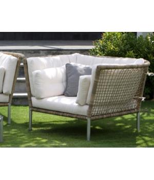 Кресло Casablanca серое, с подушками, 120*100*80